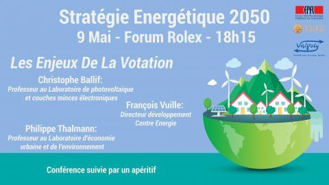 Conférence: Stratégie Energétique 2050 - Enjeux De La Votation