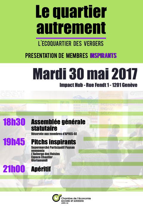 Assemblée Générale Statutaire d'APRES-GE - 30 mai 2017