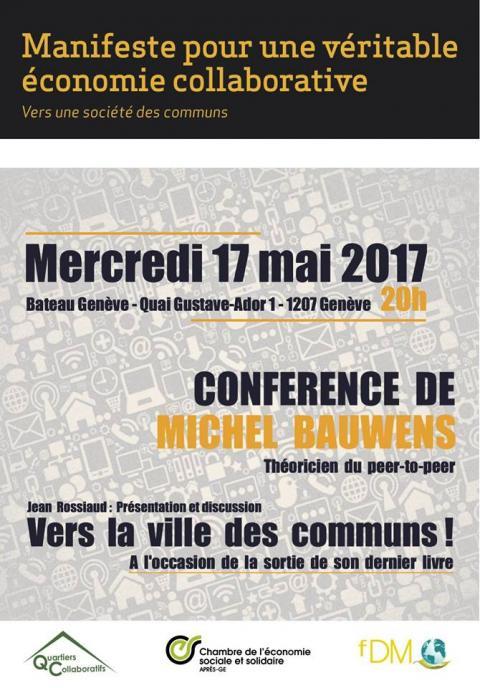 Vers la ville des communs !  Michel Bauwens en Conférence le 17 mai