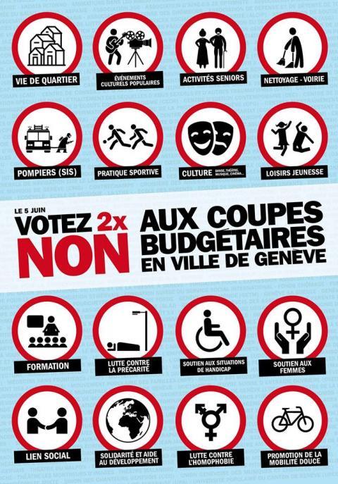 Allons tout-e-s voter! Dernier délai pour soutenir les référendums contre les coupes budgétaires en Ville de Genève