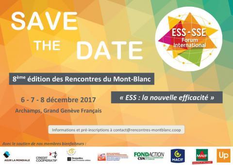 """8ème édition des Rencontre du Mont-Blanc sur le thème """"ESS: la nouvelle efficacité"""""""