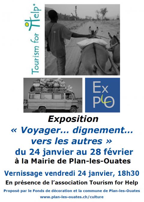 """Invitation au vernissage de notre exposition: """"Voyager...dignement vers les autres"""""""