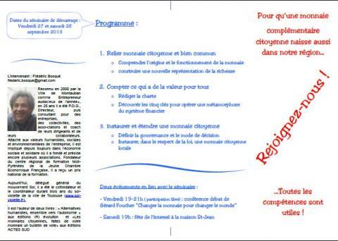 """Le projet """"Monnaie Grand Genève"""""""