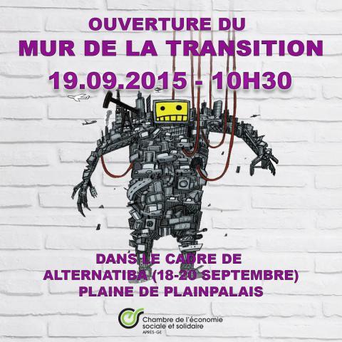 Alternatiba Léman (19-20 septembre 2015) : Le MUR de la transition