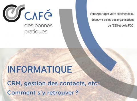 Café des bonnes pratiques - 17 octobre 2019 : informatique d'entreprises