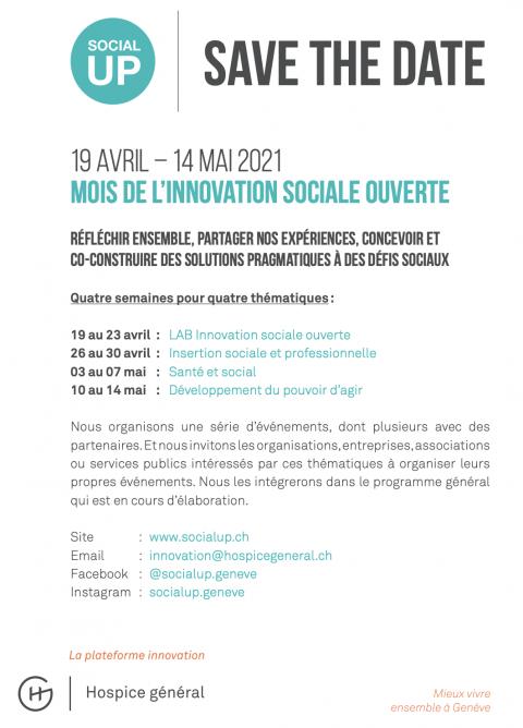 Mois de l'innovation sociale ouverte - SocialUP