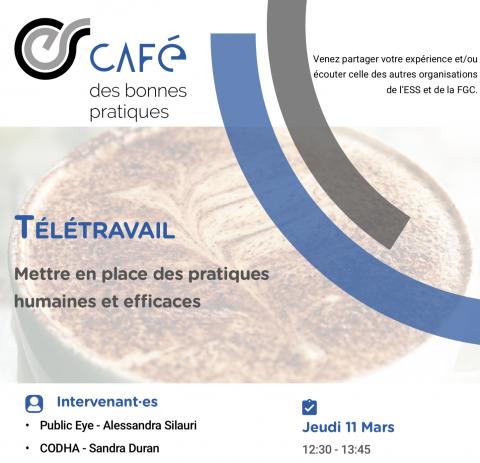 Café des bonnes pratiques : télétravail