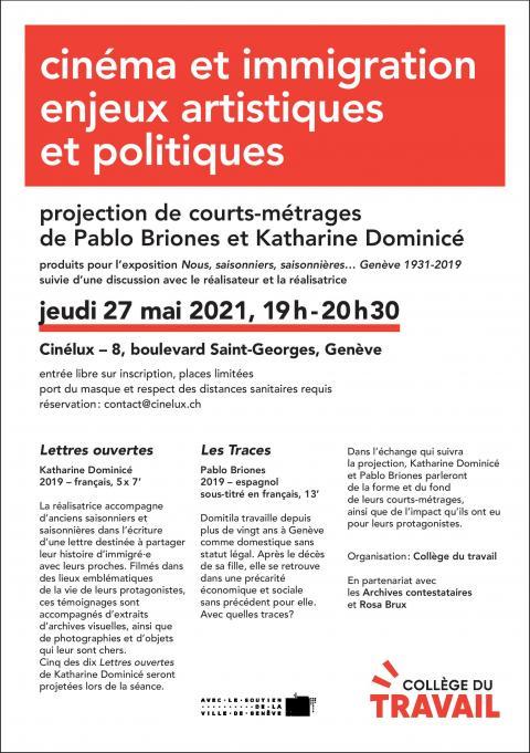 Cinéma et immigration : enjeux artistiques et politiques (courts-métrages)