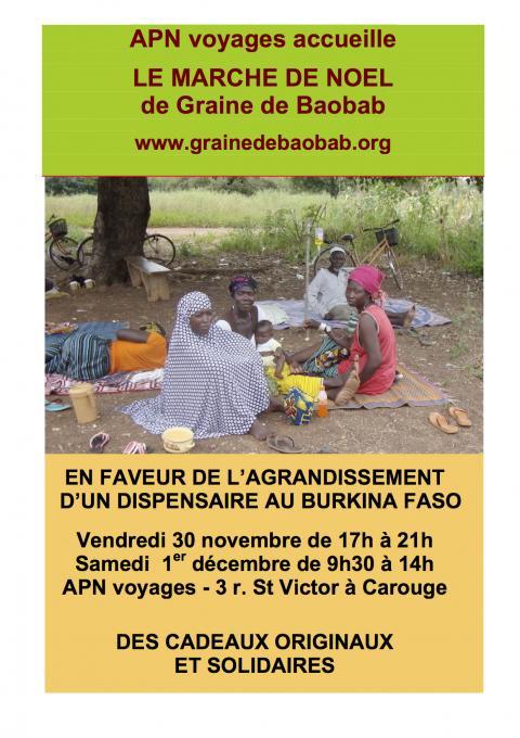 Marché de Noël de l'association Graine de Baobab