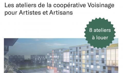 Appel à projets aux Vergers : Les ateliers de la coopérative Voisinage pour Artistes et Artisans