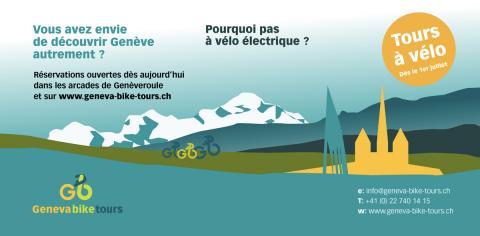 Nouveau à Genève ! Tours guidés à vélo
