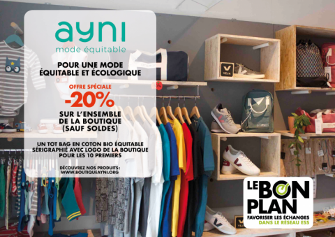 Le Bon Plan du mois d'octobre - Boutique AYNI