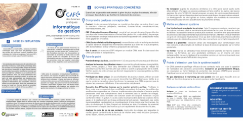 Informatique de gestion - fiche synthétique des bonnes pratiques