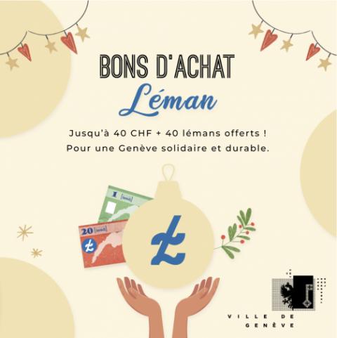 Bons d'achat solidaires et durables : 2,5 millions injectés par la Ville de Genève pour l'économie locale… et une partie en lémans !