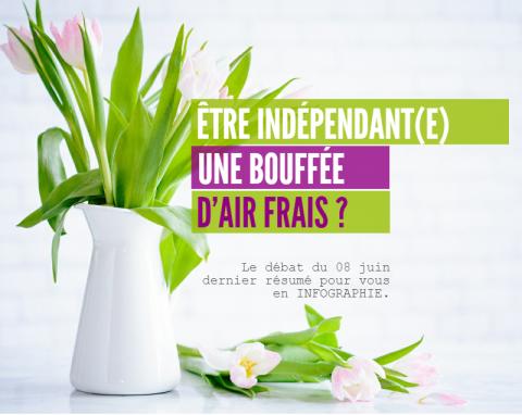Infographie : Être indépendant-e, une bouffée d'air frais ?