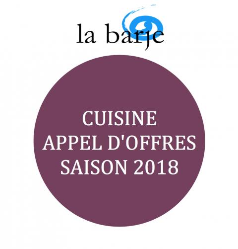 Appel d'offres - Cuisine pour les roulottes de la Barje