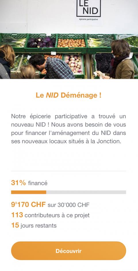 Le NID - épicerie participative - recherche des fonds pour son déménagement !