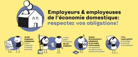 Une campagne destinée aux employeurs et employeuses de l'économie domestique