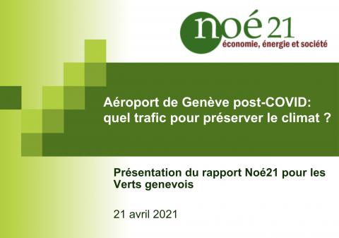 [DOSSIER] Aéroport de Genève post-COVID: quel trafic pour préserver le climat ? - Noé21