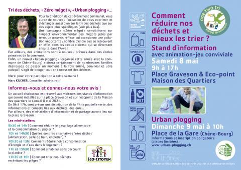 «SEMAINE DE VALORISATION DES DECHETS» de Thônex (6e édition)