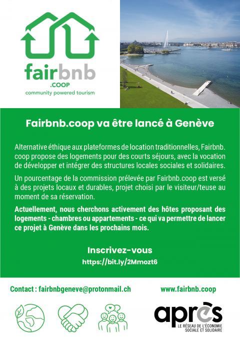 FairBnB cherche des hôtes à Genève !