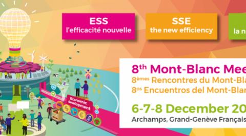 """Huitièmes rencontres du Mont-Blanc : """"ESS l'efficacité nouvelle"""""""