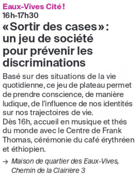 """""""Sortir des cases"""": un jeu de société pour prévenir les discriminations"""