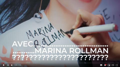 Marina Rollman s'engage pour le climat... avec humour !