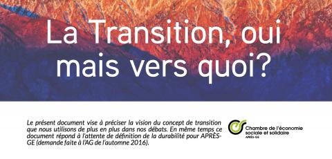 APRÈS-GE présente sa vision de la Transition