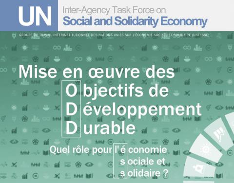 """Appel à participation: Conférence """"Mise en œuvre des Objectifs de développement durable :  Quel rôle pour l'économie sociale et solidaire ?"""""""