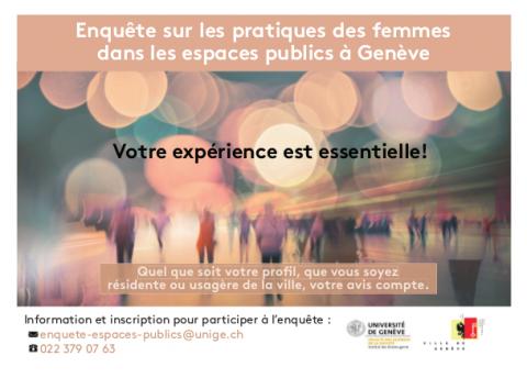 Enquête sur les pratiques des femmes dans les espaces publics à Genève - Appel à participer
